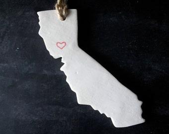 California State Clay Tag - San Francisco,LA,Ornament, Gift Wrap & Decoration