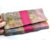 cool women's recycled plastic bag clutch wallets