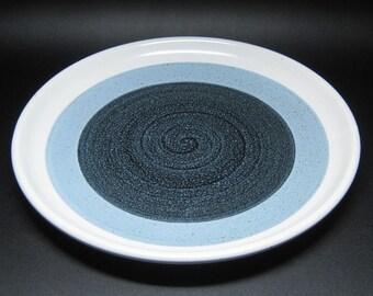 OTAGIRI pottery CASCADE stoneware chop plate / platter blue
