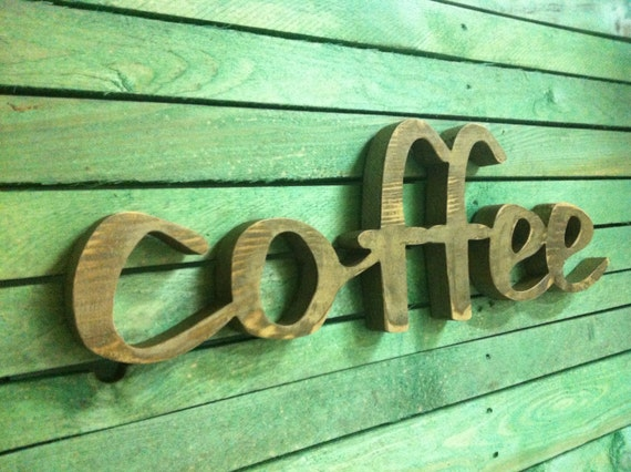 Wood Sign Home Decor Wood Word Coffee Wooden Sign By Svetulka