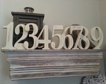 Freestanding Wooden Wedding Numbers - All available - Any Colour, Price is Per number