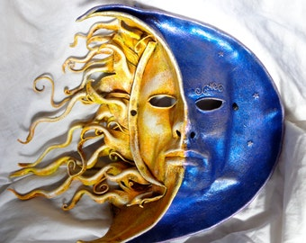 Leather Mask Day and Night Sun and Moon Celestial
