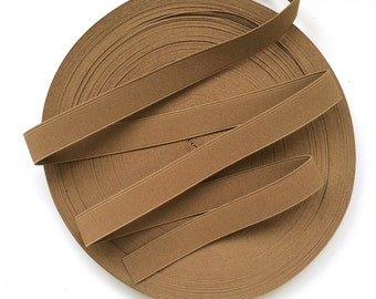 "1"" Mocha Brown Stretch Elastic Band"
