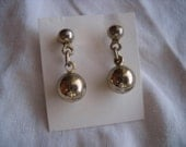 Gold Ball earrings dangle post