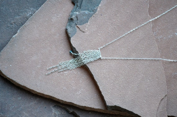 SALE Sterling Silver Chain Necklace, Delicate, Minimalist