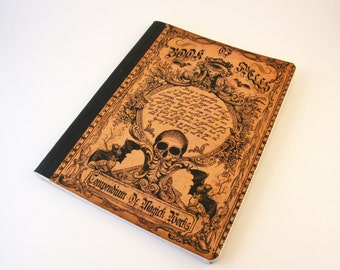 Book of Spells Altered Composition Notebook Journal
