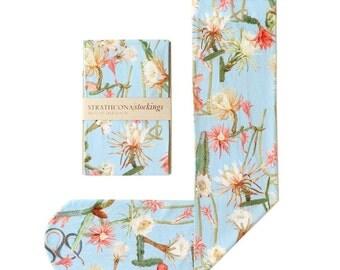Printed Socks Desert Flower -- Powder Blue