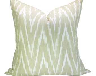 Kasari Ikat pillow cover in Sand
