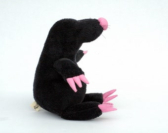 Black Mole Plushie, stuffed toy for children, Soft Plush Animal, Funny Softie