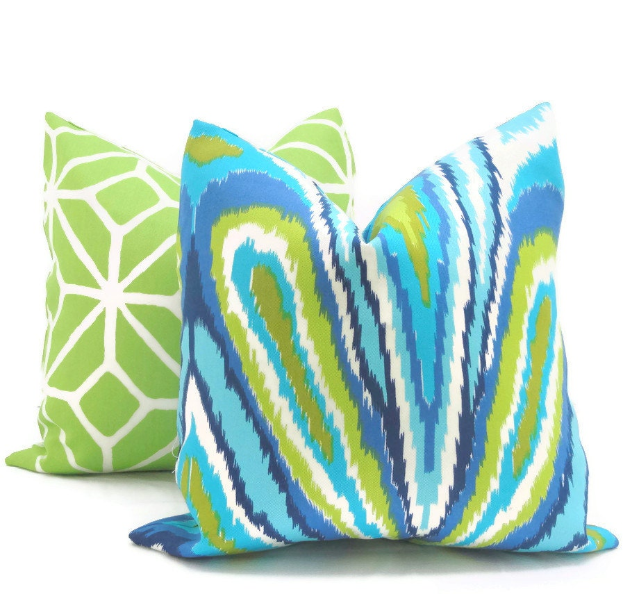 Trina Turk Peacock Designer Indoor Outdoor Pillow Cover