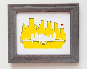 Pittsburgh, Pennsylvania.  Personalized gift, wedding gift