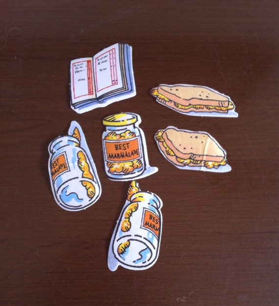 paddington bear marmalade sandwich book stickers