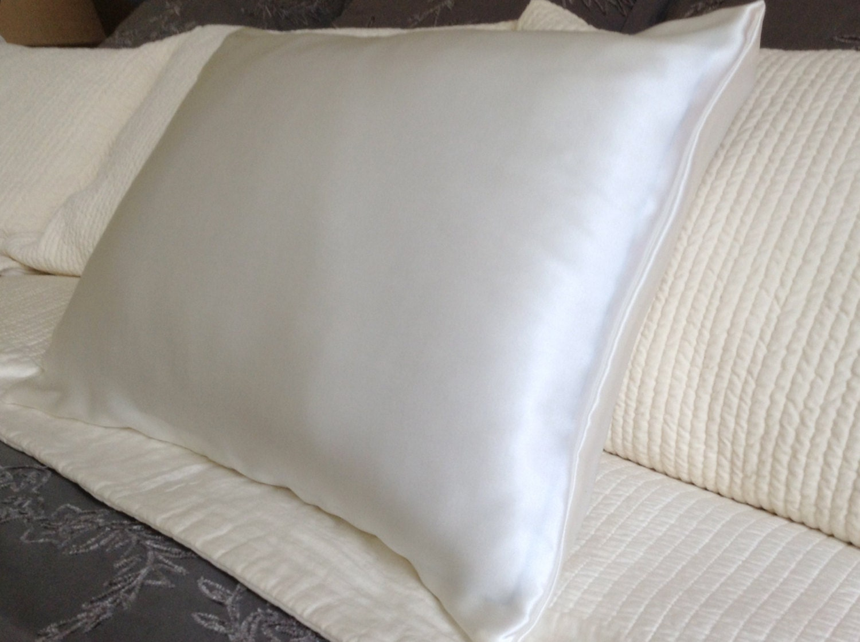 Silk Pillowcase Envelope Closure Soft White No Dye Mulberry
