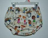 Children Playing Music Diaper Cover