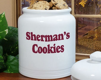 Any Message Personalized Ceramic Cookie Jar [cookie jar, cookies, ceramic, kitchen, container, cookie container, personalized] -gfyU367715