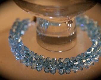 Aquamarine Swarovski Shines Bracelet