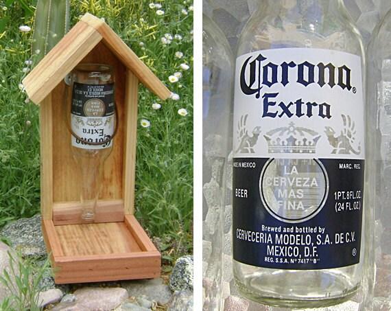 Bouteille de mangeoire oiseaux corona extra bi re bouteille - Mangeoire oiseaux bouteille ...