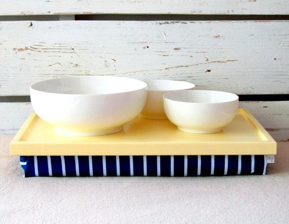 Laptop Bean Bag Lap Desk Or Breakfast Tray Soft Pastel By
