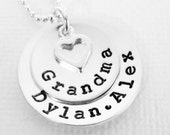 Grandmother Necklace - Personalized Name Necklace - Grandma - Name Jewelry - STERLING SILVER - Patricia Ann Jewelry