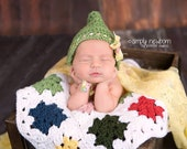 Crochet NEWBORN Granny Square Blanket, Layering Prop, Photography Prop, Basket Stuffer