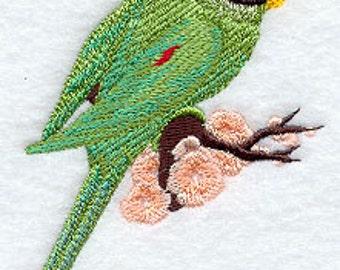 Asian Parakeet Embroidered Flour Sack Hand/Dish Towel