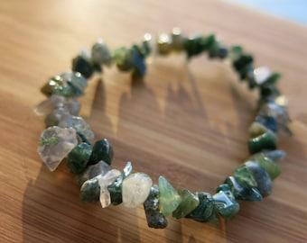 Green Moss Agate Bracelet