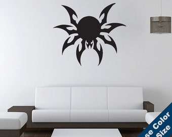 Wicked Spider Wall Decal - Vinyl Sticker - Free Shipping