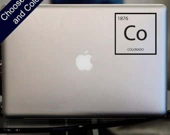 "Colorado ""Element"" Decal - Co Sticker for Laptop, Car"