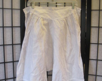 SALE Antique Vintage Bloomers White Pantaloons Drawers One Piece Edwardian Victorian 1800s Early 1900s M Medium