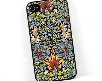 William Morris iPhone case, Snakeshead Floral Design, Vintage style Plastic iPhone 4 5 6 Cover, Retro cell phone case