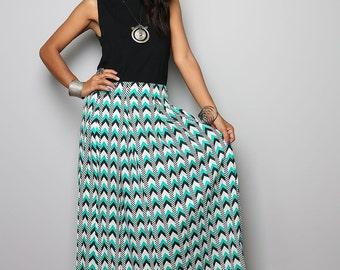 Maxi Skirt - Chevron Print Maxi Skirt : Feel Good Collection No.3