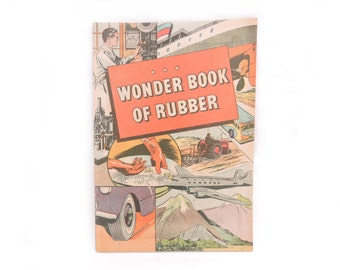 Wonder Book of Rubber - Vintage 1960s B.F. Goodrich Promotional Comic Book