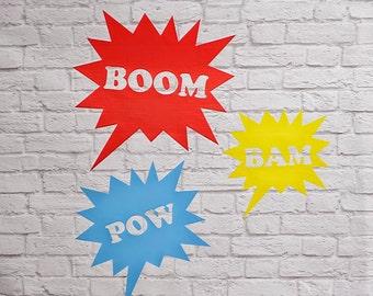 Pow Bam Boom Vinyl Wall Decal