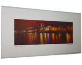 Glasgow River Clyde Signed And Titled Mounted Print