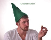 Green Elf Gnome Hat Crochet Pattern Pointed Hat Tutorial Instant Download