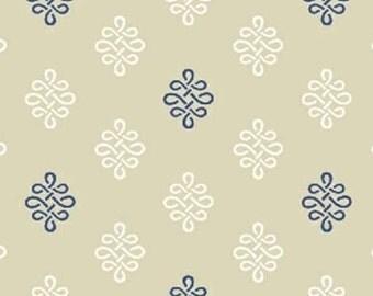 SALE - Serena - Blue Beige Foulard from Windham Fabrics