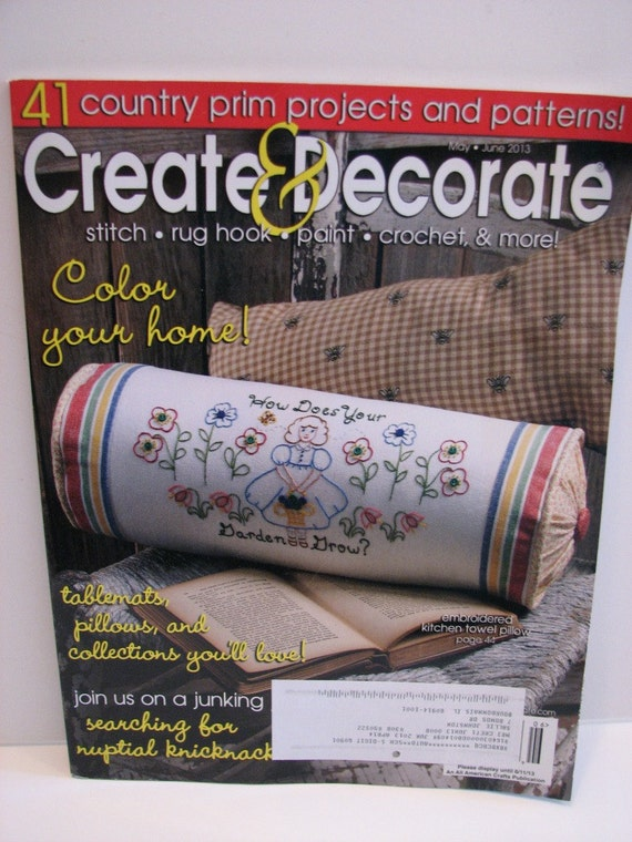 5 recent issues of create decorate primitive craft magazine for Create and decorate magazine free