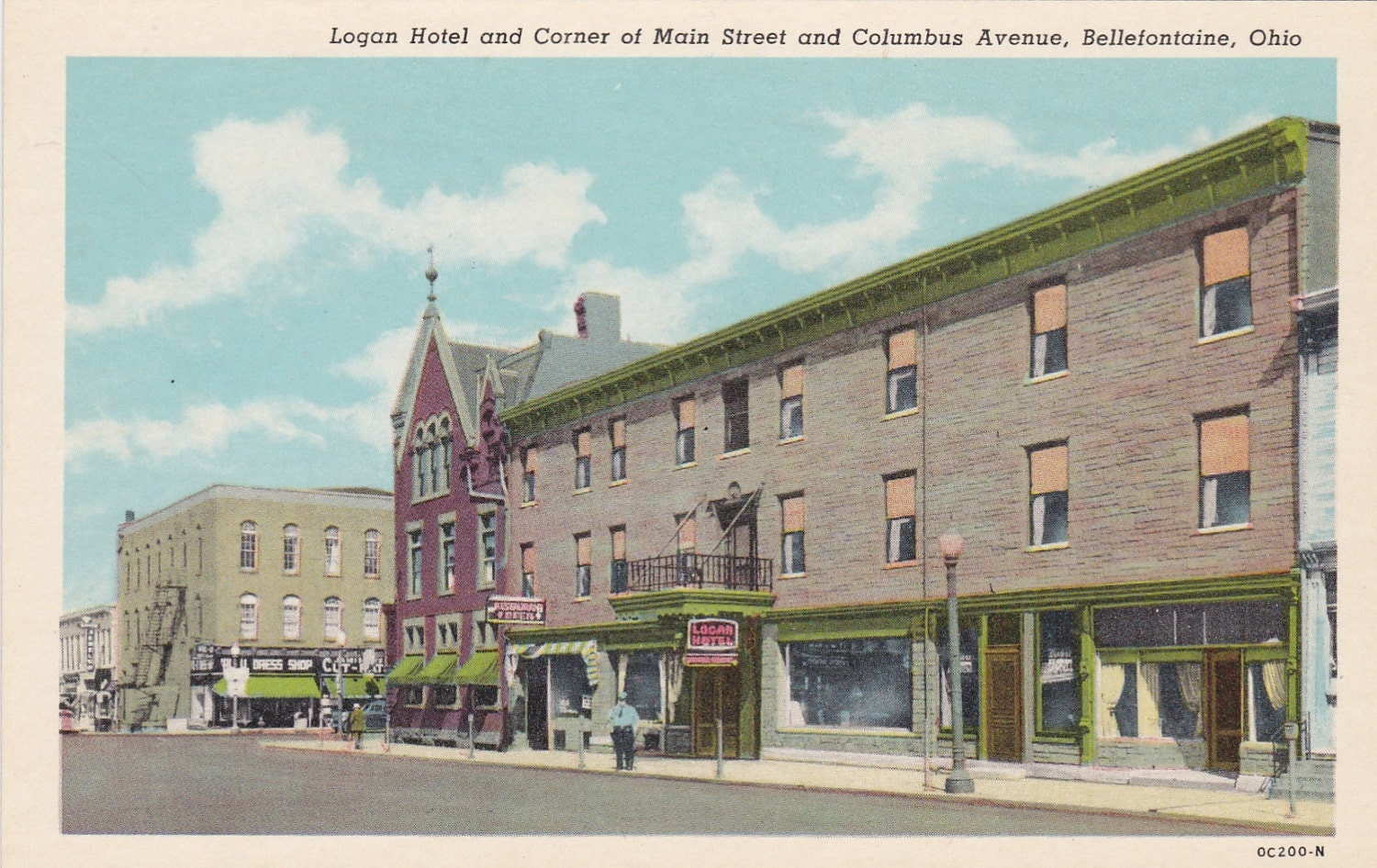 Bellefontaine (OH) United States  city images : Logan Hotel Main Street Bellefontaine Ohio by postcardsofthepast