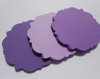 50 Square Fancy Tags. 3 inch. CHOOSE YOUR COLORS. Birthdays, Weddings, Favor, Gift