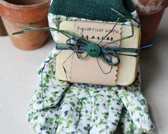 Gardener's Soap Creatively Packaged With Gardening Gloves Gift Idea - Gardener's Gift - Mother's Day Gift