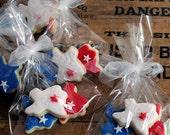 Cookies - Mini State of Texas Sugar Cookies   - 1 dozen sets (3 mini cookies each) -Favors - Welcome bags