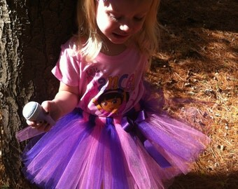 Dora Pink and Purle Tutu, Sizes 18 months - 5T