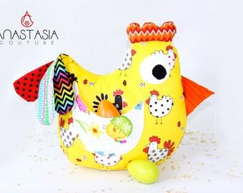 Stuffed chicken bird and 2 baby chickens,organic toy,%100cotton toy, chicken doll. stuffed animal toy,stuffed bird