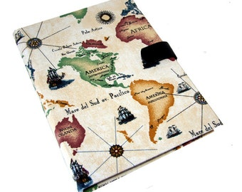 Kindle HD HDX Cover Samsung Note iPad Air Mini Kindle Paperwhite Kobo Nook Case Ipad Case Vintage Map Magnetic Closure