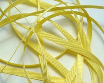 "1/4"" Grosgrain Ribbon -  Yellow 2 - 10 yards"