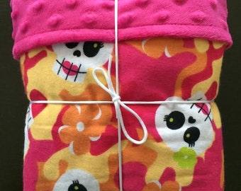 skull baby blanket