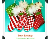 Embroidered Stockings-ANY colors/patterns
