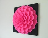 Felt Flower Wall Art Pattern SOPHIA FLOWER Fabric Flower Wall Art Tutorial Felt Flower Pillow Fabric Flower + 2 Bonus Pillow Cover Patterns