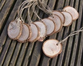 Rustic Larch wood Gift Tags. Set of 10 tags.