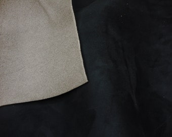 "Black Suede Stretch Headlining Foam Backed Fabric 60"" Wide by the yard"